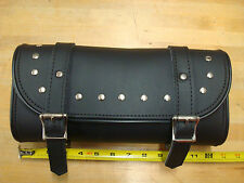 LARGE MOTORCYCLE PVC STUDDED TOOL BAG UNIVERSAL FOR HARLEY AND METRIC