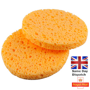 2x Cellulose Sponge Facial Skin Cleansing Exfoliate Pad Face Clean Remover 8CM
