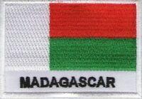 écusson ECUSSON PATCH THERMOCOLLANT PATCHE DRAPEAU MADAGASCAR 7 X 5 CMS