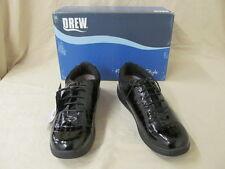 "Drew 9m ""tulip"" Black Croc Patent Leather Oxford Shoes With Laces"