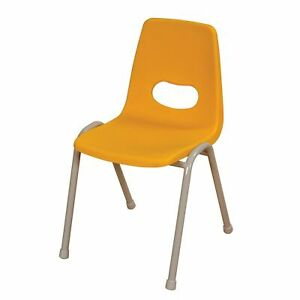 Classroom Chairs X4 Thrifty Plastic Metal Frame Seat Height 460mm