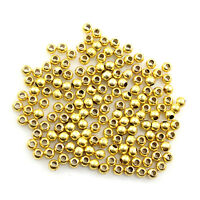200x Gold Silver Plated Round Ball Spacer Beads Jewellery Making 3.2mm 4mm 5mm