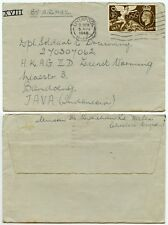 GB to JAVA 1948 OLYMPIC GAMES SINGLE FRANKING AIRMAIL DUTCH EAST INDIES