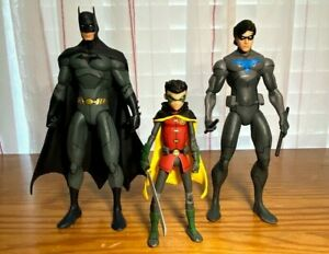 Son of Batman Nightwing Robin Action Figure Lot 3 Animated Movie DC Collectibles