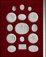 30 Grand Tour Cameos plaster intaglio Gem Medallions seal Classic Impronte #6