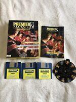 Premier Manager 2 Commodore Amiga Game - Big Box Complete Manual & Strip Wheel