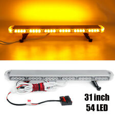 31'' 54 LED Emergency Warning Strobe Light Bar Traffic Advisor Double Side Light