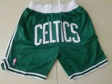 Boston Celtics With pocket Vintage Basketball Shorts Green Sizes S-XXL