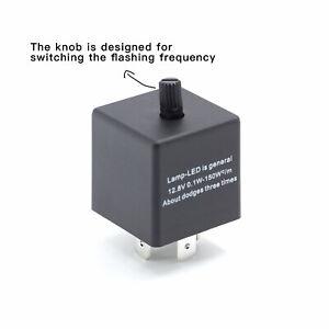 1x 3PIN Adjustable LED Flasher Relay CF14 JL-02 EP35 Fix Turn Signal Hyper Flash
