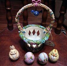Jim Shore Heartwood Creek 2012 Basket Full Of Surprises Easter Décor Enesco
