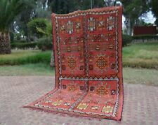 Moroccan rug, Boujaad rug, beni ourain rug, bohemian,Vintage Moroccan Azilal Rug