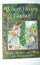 Cookbook - WHERE HEARTS GATHER by Susan West Cannon SIGNED!! Lubbock Texas