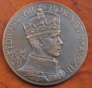 Edward VIII proposed Coronation Medal 1937 by J.R.Gaunt, bronze, 57mm