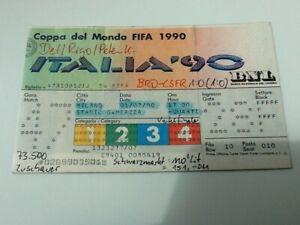Ticket WM WC Italien 1990 Deutschland - CSFR  Milano Match 47 01.07.1990 1/4 Fin
