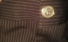 GUCCI Brown Pin Stripes Straight Leg Dress Trouser Suit Pants 38 Small (0-2)