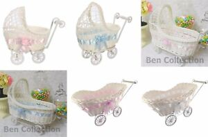 Baby Shower Wicker Baby Carriage Stroller Centerpiece Party Favors