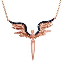 Solid 925 Sterling Silver Angel Wings Necklace