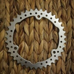 [mmM] 116 mm BCD 38-tooth 3 bolt STRONGLIGHT Chainring Silver Vintage NOS