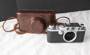 1952 Leica iiiF Camera Body w/ Leather Case Nr. 607111