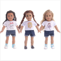 For 18-inch American Girl Doll Clothes Handmade Doll Suit Pants 2pcs