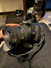 Canon EOS Rebel T3i 18.0MP Digital SLR Camera - Black BODY + 2 RARE LENSES