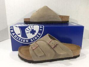 BIRKENSTOCK Womens Zurich Taupe Suede Slides Sandals Shoes Sz 4 EU35 ZB6-1579