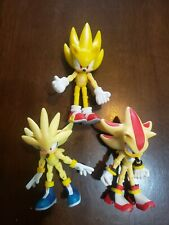 Sonic The Hedgehog Shadow & Silver and Sonic Super 3 Pack Jazware FREE SHIPPING