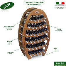 Cantinetta Portabottiglie BOTTE in legno noce vino cantina rovere 36 posti