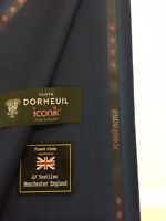 "DORMEUIL ""Iconik Nano"" Dark Teal Super 120's 100% Worsted Wool Suit Fabric"