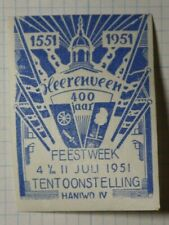 Netherlands 400 Year Party Week Exhibit Ww Tourism Poster Stamp