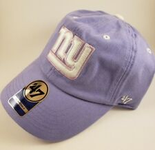 NWT New York Giants Womens OSFA NFL CAP HAT PURPLE FOOTBALL 47 WOMEN GIANT NYG