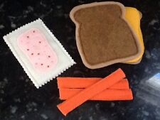 FELT FOOD GRILLED CHEESE  PLAY SET NEW