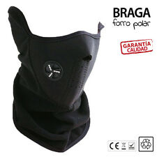 Braga cuello pasamontañas mascara neopreno forro polar BICI MOTO SNOW ESQUI