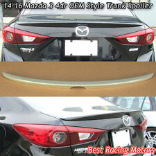 Factory Style Trunk Spoiler Wing (ABS) Fits 14-17 Mazda 3 4dr