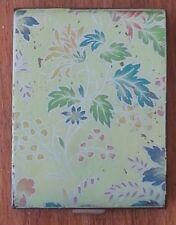 VINTAGE ZENETTE POWDER COMPACT - Floral Leaf Design-Made in England