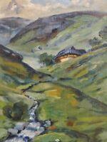 Anny Oswald - kleines Gemälde 1937: SOMMER IM SCHWARZWALD