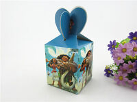 12pcs  Moana Happy Birthday Party Decoration Supplies Treat Box Gifts Candy Bag