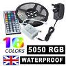 5M QUALITY RGB LED LIGHT STRIP ROPE KIT 5050 MULTI COLOUR + IT REMOTE + UK PLUG