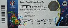 TICKET 17.6.2016 Czech Republic - Croatia Match 20 in Saint Etienne