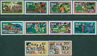 Niue 1977 SG224-233 Island Life and Coronation Regalia ovpts MNH