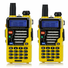 2x BaoFeng UV-5R Plus Qualette Yellow Dual-Band VHF/UHF 20M/70CM Ham 2-way Radio