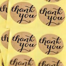 Kraft Thank You Stickers x 30 Craft, Scrapbooking, Wedding, Cards
