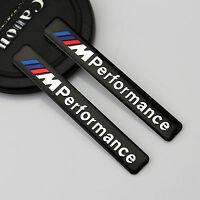 2pc Auto M Performance Emblem Aufkleber Kotflügel Badge links rechts für Schwarz