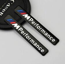 2pc Auto Emblem Aufkleber Kotflügel Badge links rechts für M Performance Schwarz