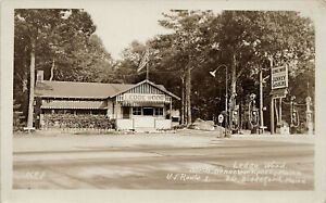 Kennebunkport ME Ledge Wood Jenney Gas Station Real Photo Postcard