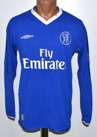 CHELSEA LONDON 2003/2005 HOME FOOTBALL SHIRT JERSEY UMBRO SIZE S LONG SLEEVE