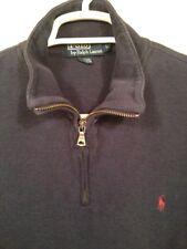 Polo Ralph Lauren Men's Blue 1/2 Zip Cotton Pullover, Large