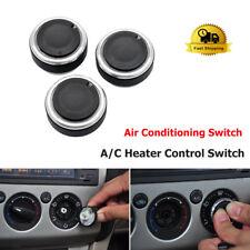 3Pcs Aluminium Heater Dash Knobs Button Kit for VW Polo MK5 MK6 Passat Sirocco