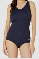 $164 Speedo Women's Blue Pebble Texture One Piece Swimsuit Swimwear Size 14