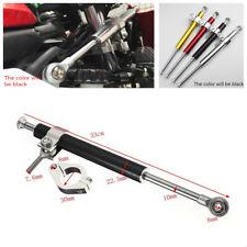 1X 33CM Motorcycle Metal Aluminum Steering Damper 6 way Adjust Stabilizer Linear